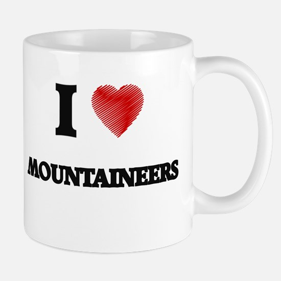 I Love Mountaineers Mugs