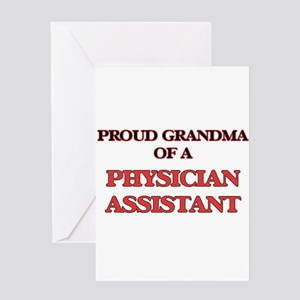 Proud Grandma of a Physician Assist Greeting Cards