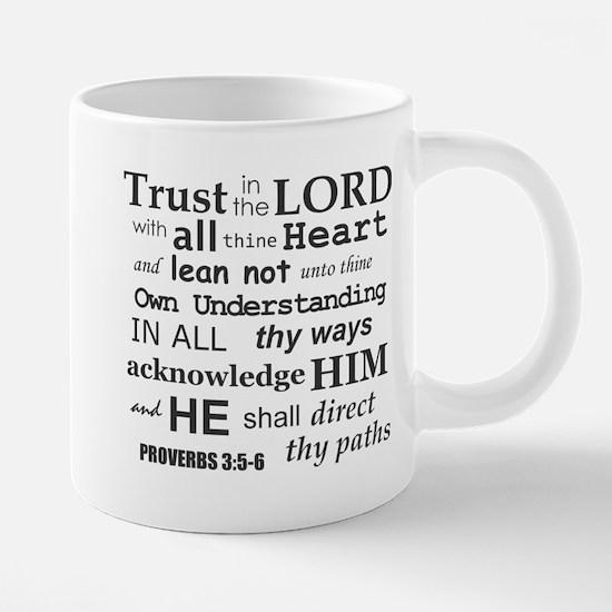 Proverbs 3:5-6 KJV Dark Gray Print Mugs