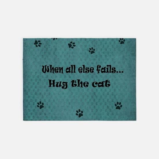 When all else fails...Hug the Cat 5'x7'Area Rug