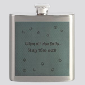 When all else fails...Hug the Cat Flask