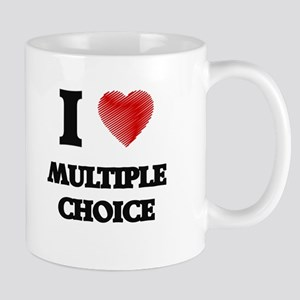 I Love Multiple Choice Mugs