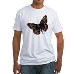 Baltimore Butterfly (Front) Fitted T-Shirt