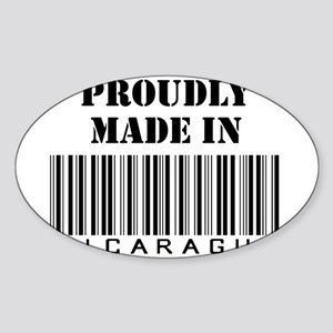 Made in Nicaragua Oval Sticker