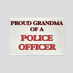 Proud Grandma of a Police Officer Magnets