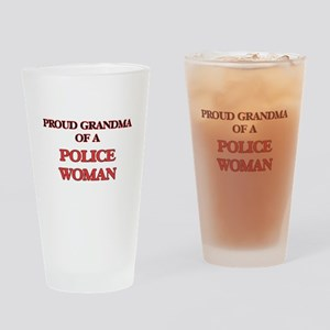 Proud Grandma of a Police Woman Drinking Glass