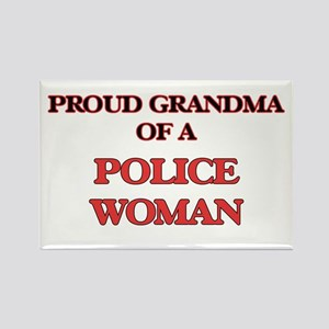 Proud Grandma of a Police Woman Magnets