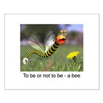 Worm Bee Small Poster