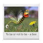 Worm Bee Tile Coaster