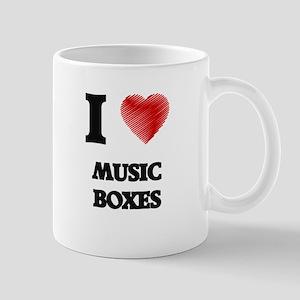 I Love Music Boxes Mugs