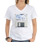 Internet on a disk Women's V-Neck T-Shirt