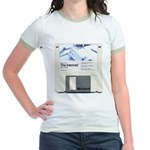 Internet on a disk Jr. Ringer T-Shirt