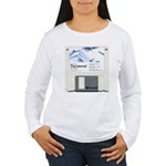 Internet on a disk Women's Long Sleeve T-Shirt