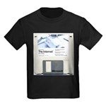 Internet on a disk Kids Dark T-Shirt