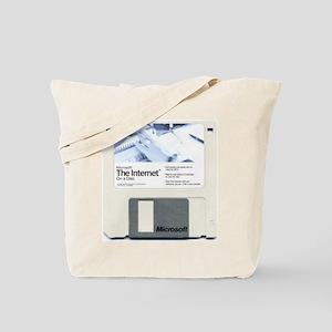 Internet on a disk Tote Bag