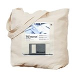 Internet on a disk Tote Bag