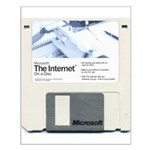 Internet on a disk Small Poster