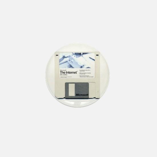 Internet on a disk Mini Button
