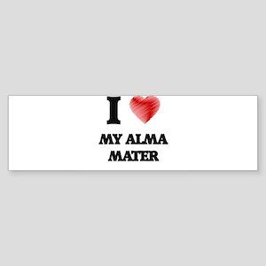 I Love My Alma Mater Bumper Sticker