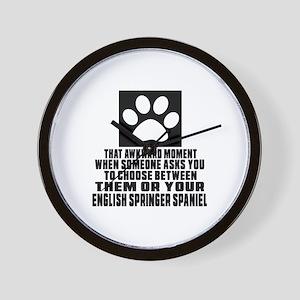 English Springer Spaniel Awkward Dog De Wall Clock