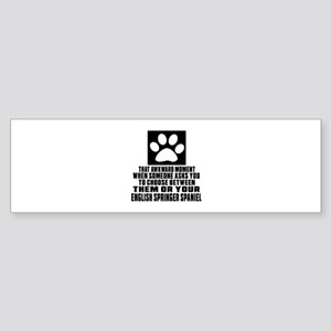 English Springer Spaniel Awkward Sticker (Bumper)