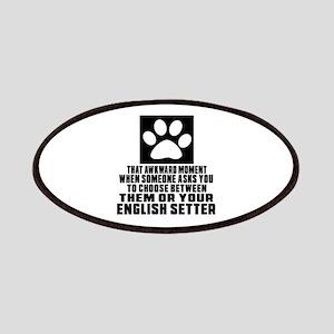 English Setter Awkward Dog Designs Patch