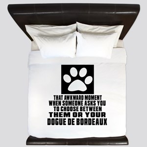 Dogue de Bordeaux Awkward Dog Designs King Duvet