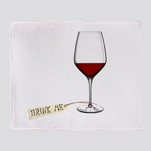 Drink Me Throw Blanket