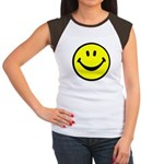 Happy Face Women's Cap Sleeve T-Shirt