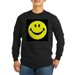 Happy Face Long Sleeve Dark T-Shirt