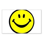 Happy Face Rectangle Sticker