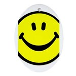 Happy Face Oval Ornament