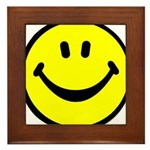 Happy Face Framed Tile