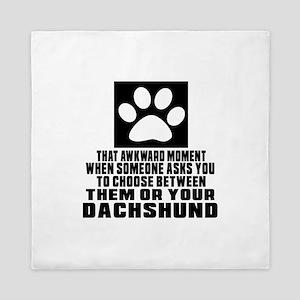 Dachshund Awkward Dog Designs Queen Duvet