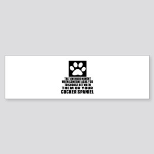 Cocker Spaniel Awkward Dog Design Sticker (Bumper)