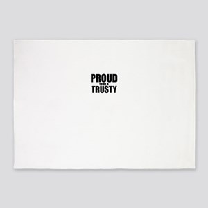 Proud to be TRUMAN 5'x7'Area Rug