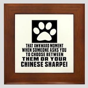 Chinese Sharpei Awkward Dog Designs Framed Tile