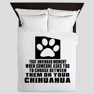 Chihuahua Awkward Dog Designs Queen Duvet