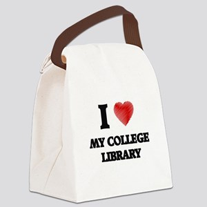 I love My College Library Canvas Lunch Bag