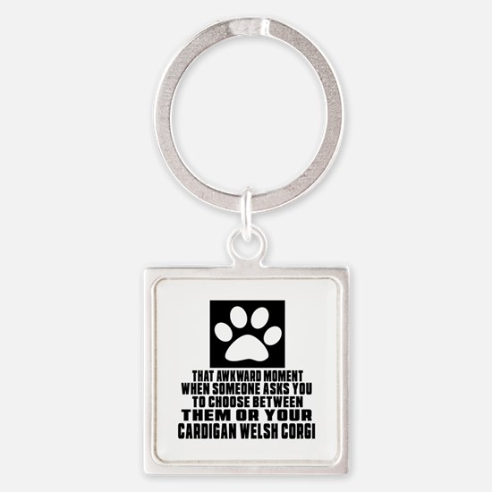 Cardigan Welsh Corgi Awkward Dog D Square Keychain