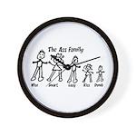 Ass Family Wall Clock
