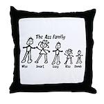 Ass Family Throw Pillow