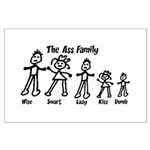 Ass Family Large Poster