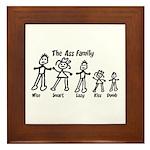 Ass Family Framed Tile