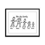 Ass Family Framed Panel Print