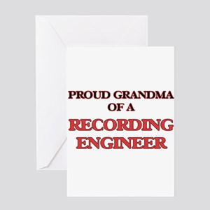 Proud Grandma of a Recording Engine Greeting Cards