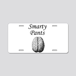 Smarty Pants Aluminum License Plate