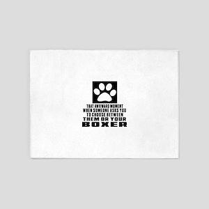 Boxer Awkward Dog Designs 5'x7'Area Rug
