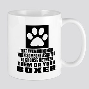 Boxer Awkward Dog Designs Mug