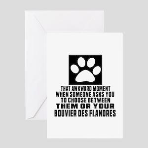 Bouvier Des Flandres Awkward Dog Des Greeting Card